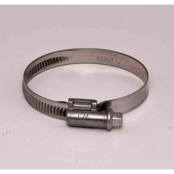 Collier de serrage 40 60 mm w5 inox a4 boutique icome inox - Collier serrage inox ...